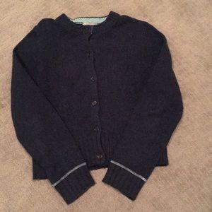 J. Crew navy cardigan sweater